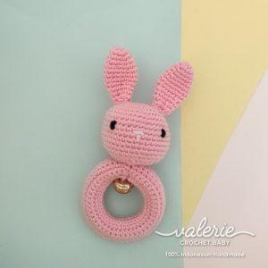 Rattle Rajut Pinky Bunny